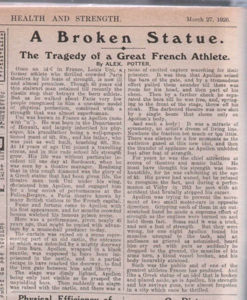 broken statue apollon article