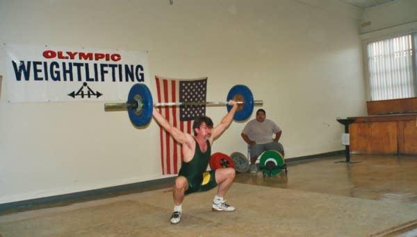 Snatching at the 2000 California State Championships.