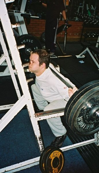 140 kg squat...at the bottom.