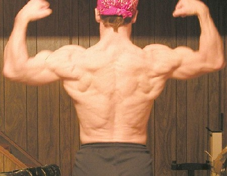 Back -- the required bodybuilder shot