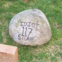 117 pounds of idiot stone.