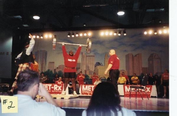 One of the first, second, and third successful cleans & jerks of the Apollon Wheels by Mark Henry, all three from 3:20 pm and