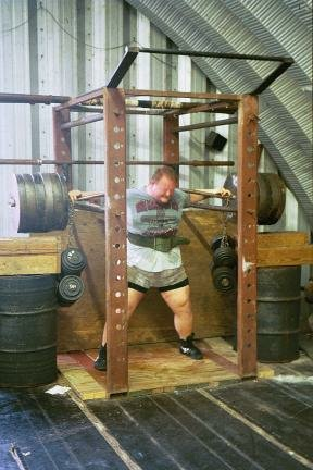 Bud Jeffries 1700 quarter squat, courtesy of Randall Strossen, Iron Mind catalog