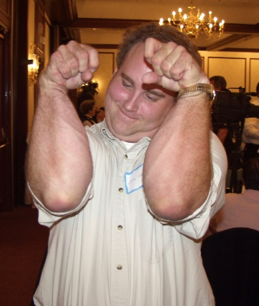 John Hicks (COC) shows off his forearms in Sybersnott style!