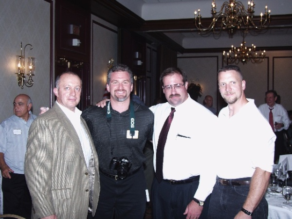 (left to right) Randy Strossen (of IronMind fame), Steve Weiner, Steve Jeck, and Pat Povilaitis