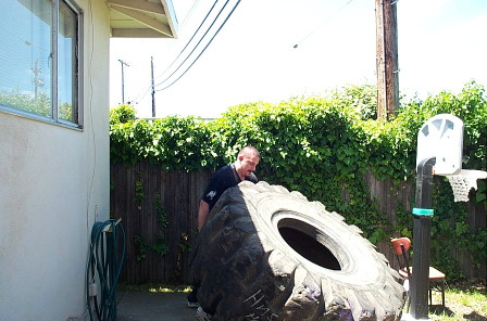 Fred and the tire