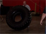 Matt flipping the 500lb Tire