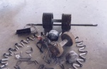 Grippers dumbells and bent steel