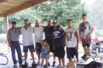 Left to right: bballdad, Dave Morton. Underdawg, Big Steve, tdogg, Miles Dixon, Blayne Dixon.  Little girl is Chloe Dixon