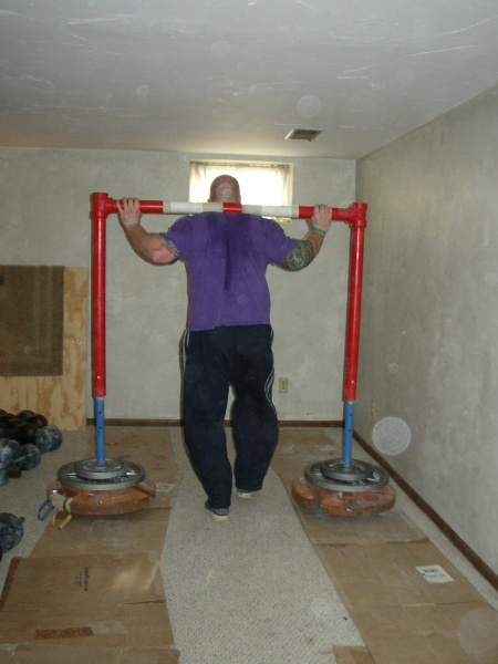Brian training on the Yoke - 625lbs